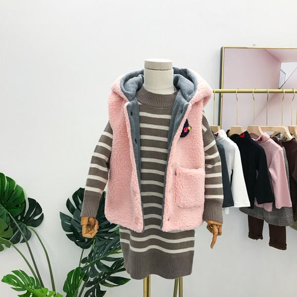 2019 New Autumn Item Girl Cute Rabbit Ear Warm Vest Two Colors SPIDERMAN kids for boys sport leggings hooded denim jacket Anna jackets