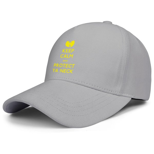 Wu Tang Clan logo keep calm and protect ya neck grey mens and womens trucker cap ball cool fitted design your own vintage running hats