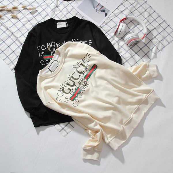 Nuevo diseñador de los hombres de alta calidad de graffiti letra de impresión de algodón con capucha cuello redondo suéter marca con capucha suéter de ropa deportiva 3835