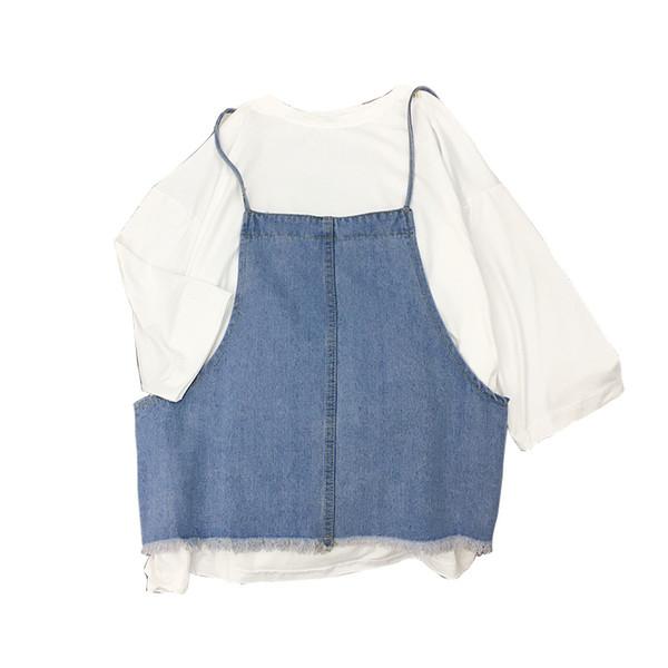 2019 Spring Clothes Simple Women's Jeans Vest Sexy Loose Vintage Large Size Coat Female Blue Denim Vest For Women Sleeveless