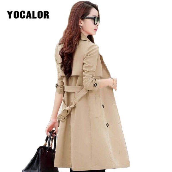 Vintage Female Overcoat Coats Womens Windbreakers Jackets Autumn Trench Coat For Women Parka Sashes Cape Manteau Femme Cloak