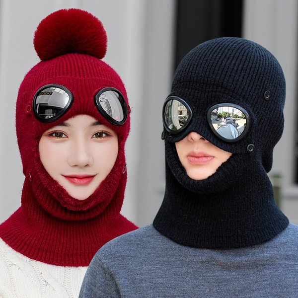 2019 Winter Knitted Hat Women Men Plush Warm Cycling Cold protection Ear protection knitting Hat With Free Shipping