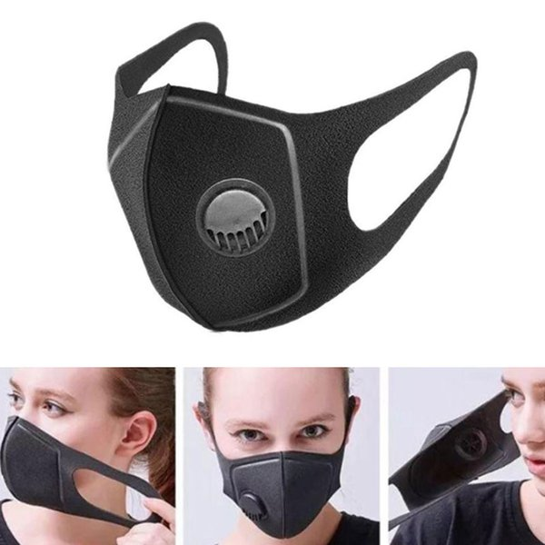 top popular Cycling Masks Dustproof Face Mouth Masks Washable Reusable Carbon Filter Cycling Face Mask Black color Free DHL Shipping 2020