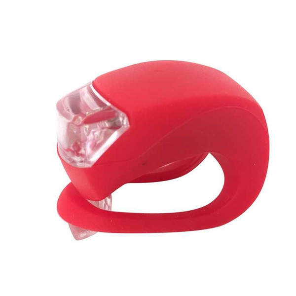 WasaFire Red Warning Light 3 Modes Silicone Bicycle Lights Helmet LED Flashlight Waterproof Bike Light Cycling Rear Tail Lamp #158426