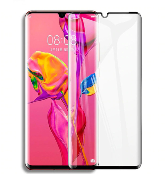 For Huawei P30 Pro 3D Tempered Glass Full Cover Screen Protector Curved Glass Mate 20 pro