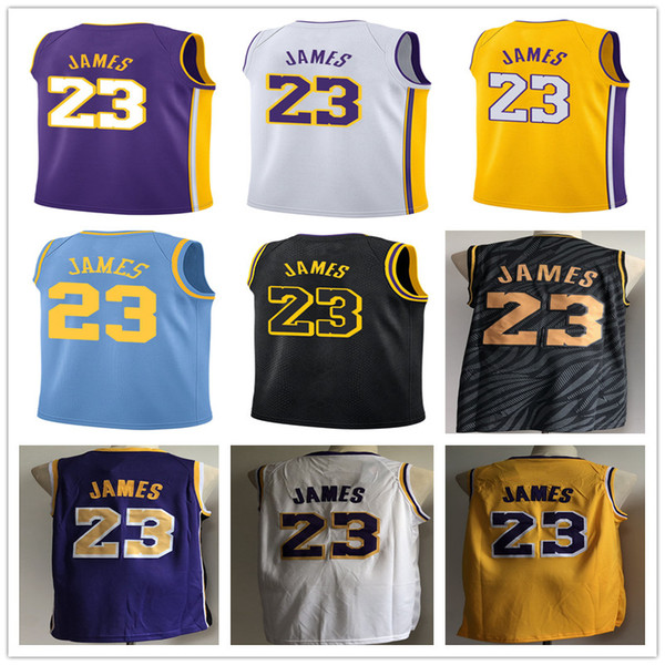 buy online a3a0a 56183 2019 23 LeBron Lakers James Basketball Jersey 2019 Lakers LeBron New Season  Jerseys Black City Basketball Jersey Gold Yellow White Purple From ...