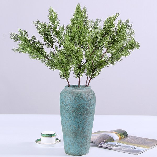 Simulation Pine And Cypress Green Fake Plants Plastic Artificial Home Furnishing Wedding Supplies Part Decoration 6 2hq F1