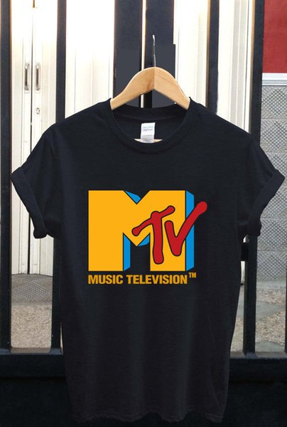 Top New MTV Red Short Sleeve T-Shirt mens pride dark t-shirt white black grey red trousers tshirt suit hat pink t-shirt