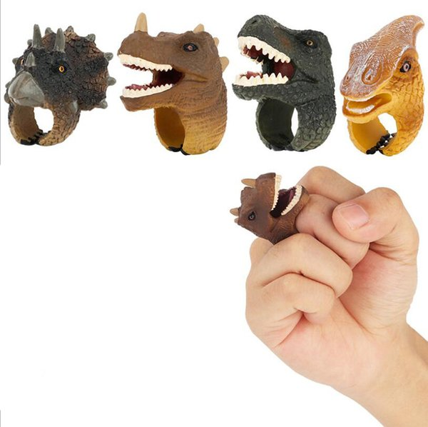 Realistic Wild Animals Finger Rings Learning Party Favors Toys for Boys Girls Kids Toddlers Forest