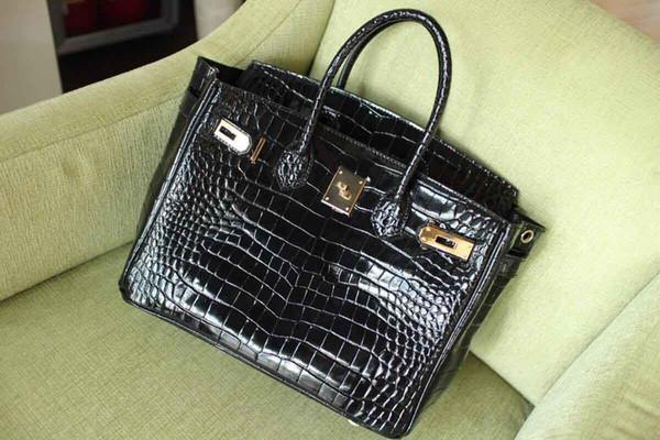 Clássico Bolsas de Grife de Moda Mulheres Jacaré Crossbody Bags Strap Bolsas de Ombro Bolsa De Couro Genuíno Bolsa Totes Sacos de Estilo Freeshipping