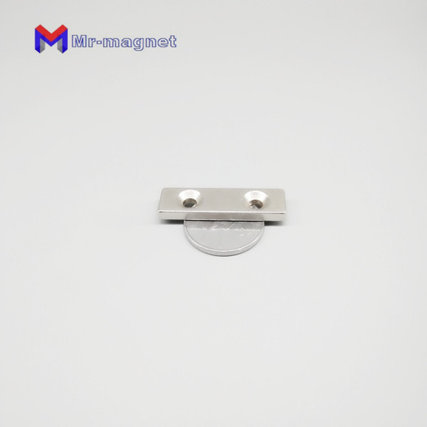 10pcs 40x10x4mm magnet N35 40mmx 10mmx 4mm with countersunk hole strong powerful permanent block rare earth neodymiummagnets 40*10*4mm- 5mm