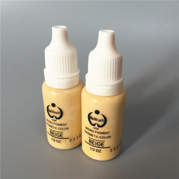 2 Pz Brige Colori Biotouch Permanente di Trucco Micro Pigmento Cosmetico Inchiostro del Tatuaggio Manuale 1/2 oz per 3D Eyebel Eyeliner Labbro