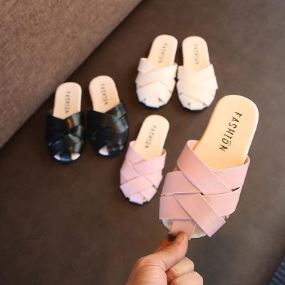 Baby Girls Hollow Weaving Slipper Sandals 2019 New Summer Fashion Kids Slipper Girls Breathable Beach Shoes Children Shoes