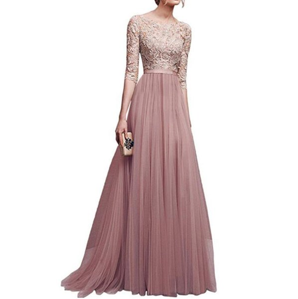 Europe and the United States autumn and winter new ladies evening dress explosion models chiffon evening dress long skirt