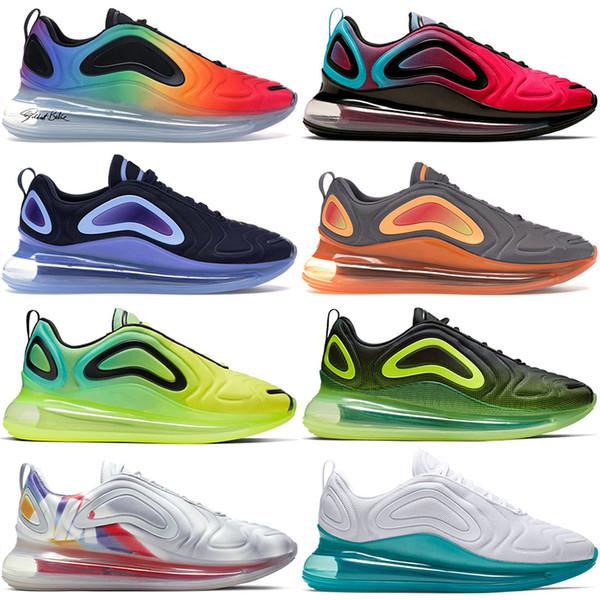top popular 2019 Sneakers Running Shoes For Men Women Be True Sunrise Pride University Red Volt White Platinum Sunrise Sunset Sport Shoes US 5.5-11 2019