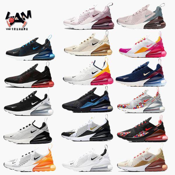Nike Air Max 270 2019 Airs 270 Coussins Baskets Designer Sport Hommes Chaussures De Course 27c Trainer Route BHM Fer Maxes Femmes Baskets Taille 36-45
