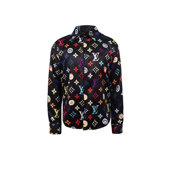 2019 Medusa shirt Men's Dress Shirts France High Street Fashion Harajuku Casual Shirt Men Medusa Black Gold tiger leopard Fancy Slim Fit Shi