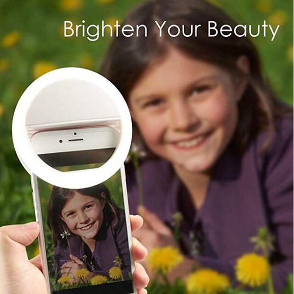 New LED Light USB Selfie Light Ring Light Phone Rechargeable Flash Lamp Selfie Ring Lighting Camera Photography for all cellphones