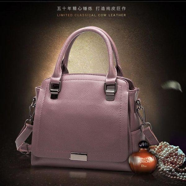 Dusa2019 Leather Genuine Women's Handbag Joker Cowhide Single Shoulder Messenger Woman Package Guangzhou