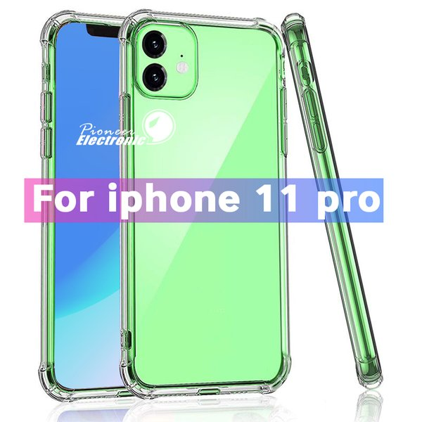 best selling For Samsung S20 Plus Ultra Clear TPU Case Shock Absorption Soft Transparent Cover For iPhone 12 11 Pro X XR max Samsung Note 10 S10 Plus