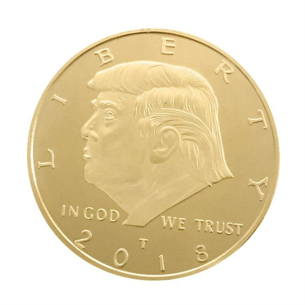 best selling America President Commemorative Coin Donald Trump Souvenir Coins EDC Craft 4CM USA National Flag Foreign Currency Alloy Gold 2 3yn C1