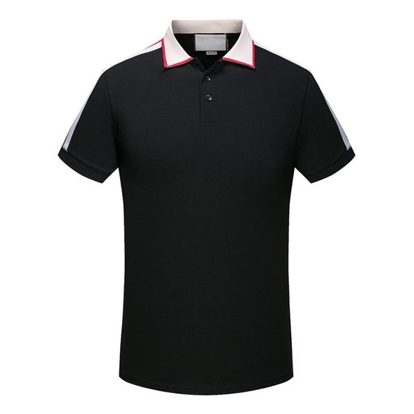 nuova Polo Fashion Designer Polo Classic Shirt T Shirt Mens Polo Snake Bee ricamo floreale High Street Fashion Polo T-shirt