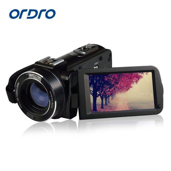 Cámara OrdroHDV-Z20 vídeo digital portátil 1080P Full HD Lens Max 24 mega píxeles con zoom de 16x de control remoto Soporte Wi-Fi