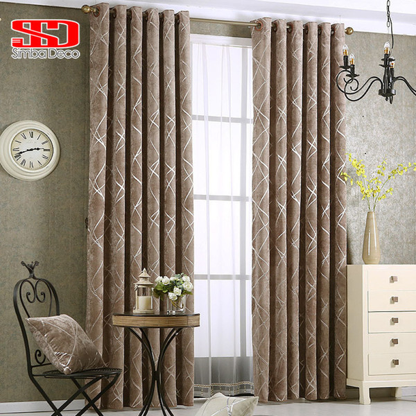 2019 Jacquard Silver Curtains For Living Room Modern Luxury Blind Fabric  Grey Geometric Lines Drape Bedroom Window Treatment Curtain D19011506 From  ...