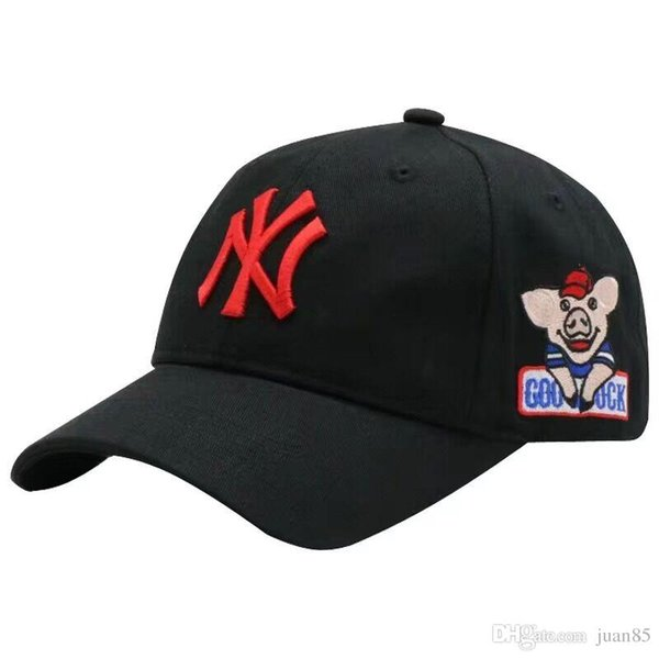 NY casquettes de baseball PIG broderie Les hommes réglables chapeaux femmes chapeaux de Snapback OFF blanc noir