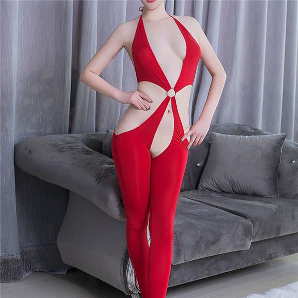Mujeres sexy Yummy festoneado encaje Bodystocking negro blanco sin mangas con cuello en V ropa interior Body ahueca hacia fuera una pieza de peluches