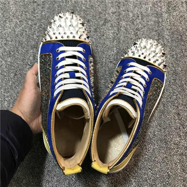 Zapatos de diseño de alta calidad para hombre, mujer, pantalones rojos, zapatillas Spike Flat No Limit, zapatos de vestir de Italia, talla 35-46