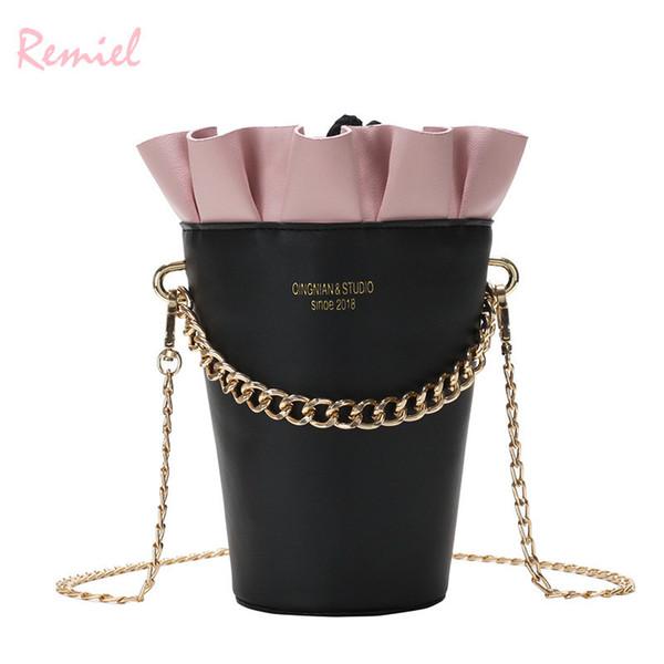 Round Bucket Bag New Fashion Women's Designer Handbag Quality Pu Leather Women Bag Cute Chain Tote Shoulder Crossbody Bags