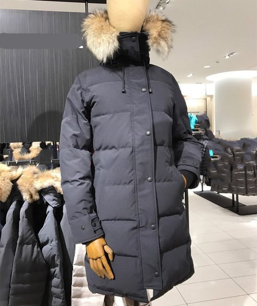 Women Parkas WINTER CANADA CG SHELBURNE1 Down & Parkas WITH HOOD/Snowdome jacket Real wolf Collar White Duck/GOOSE Outerwear & winter Coats