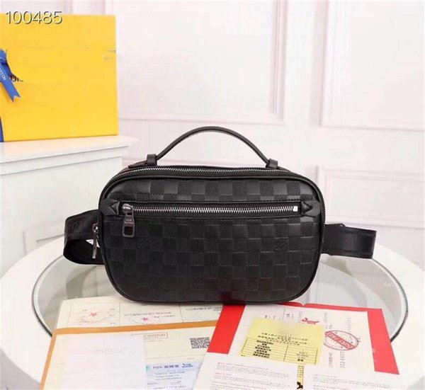 Mens Bags Brand Mens Wasit Chest Bag Hot Sale Handbags Purses With Letters New Fashion Simple Style Very Hot Genuine Leather Lattice Brand
