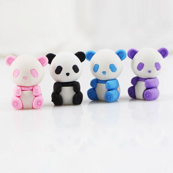 Panda silgi karikatür çıkarılabilir kauçuk silgi kırtasiye okul malzemeleri papelaria çocuklar penil silgi oyuncak hediye Ücretsiz kargo renk rastgele