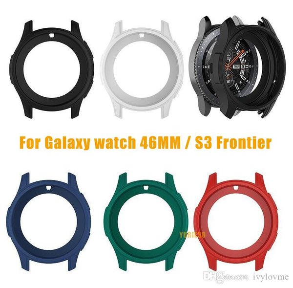 Watch Cover Case Soft Silicone Shell Protective Frame Case Cover Skin For Samsung Galaxy Watch 46mm Gear S3 Frontier