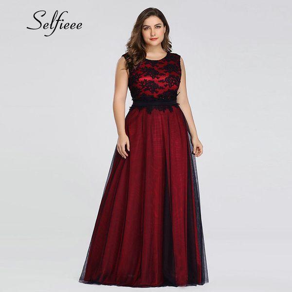 top popular Plus Size Elegant A Line O Neck Appliques Long Maxi Dresses Vestidos Fiesta De Noche Bohemian Beach Summer Dress Q190524 2021