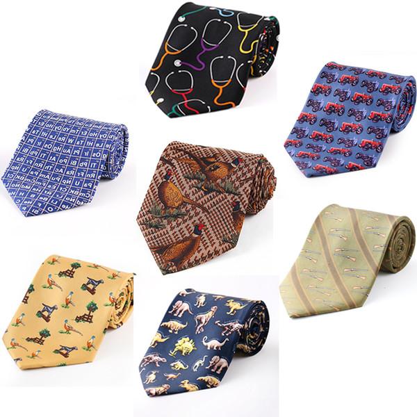 Tailor Smith Silk Bird Cravatta Mens Fancy Animal Cravatta Abito stampato Abito Casual Party Cravatta Cravatta Caccia Accessori per tiro MX190817