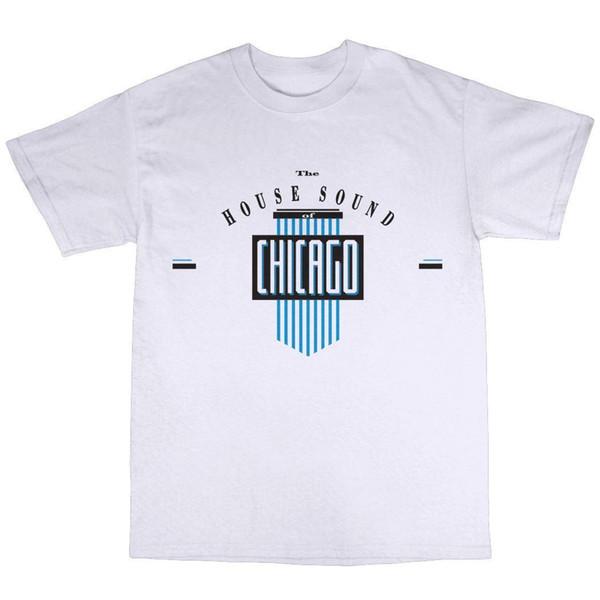 Som House Of Chicago T-Shirt Dos Homens 2018 Marca de moda T Shirt O Pescoço 100% algodão T-Shirt