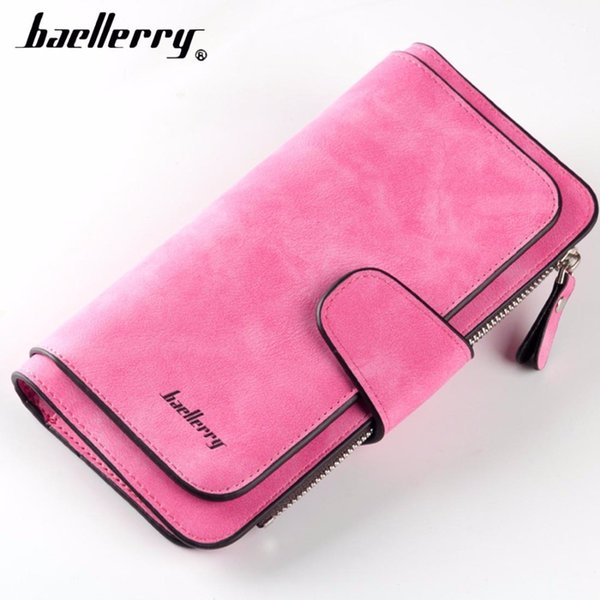 Fashion Women Wallets Long Pu Leather Card Holder Female Purse Top Quality Zipper Big Brand Wallet For Girl