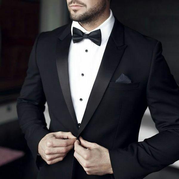 Black Wedding Suits for Men Latest Coat Pants Designs Groom Tuxedos Gentle Bridegroom Suits Man Blazer 2Piece Evening Party Terno Masculino