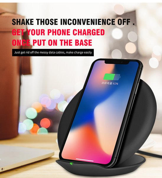 DPRUI 2018 New Wireless Charger Desktop Power Bank Charging Pad For iPhone X 8 for Samsung Galaxy