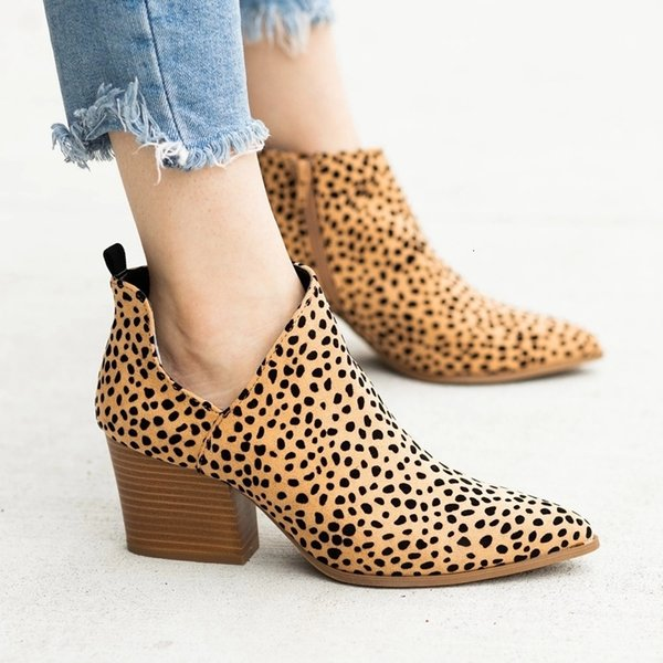 Adisputent Nice Chic Summer Women Shoes Retro High Heel Ankle Boots Female Block Mid Heels Casual Botas Mujer Booties Feminina