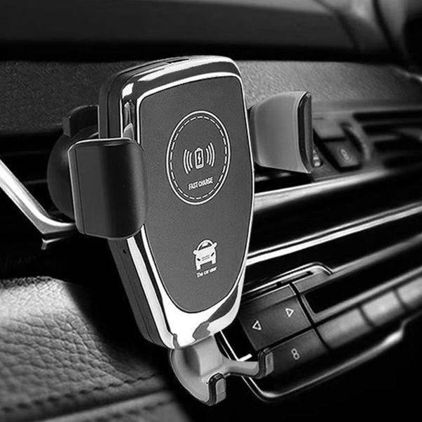 Autohalterung Für Telefon C6 Auto Qi Drahtloses Ladegerät 10 Watt Schnellladung Schwerkraft Handyhalter Halterung Cell Stand Unterstützung