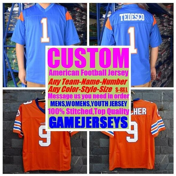 best selling Custom college american football jerseys mens womens youth kids soccer rugby stitched authentic jersey 4xl 5xl 6xl 7xl 8xl athletic wear usa