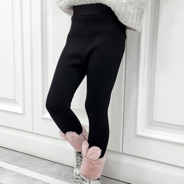 1-7Y Toddler Kid Girl Winter Warm Thick Velvet Leggings Trousers Long Pants Cute