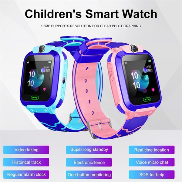 Дети LBS Locator Tracker умные часы телефон SOS анти-потерянный водонепроницаемый часы мода дети многофункциональный пульт дистанционного управления