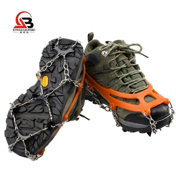 Stainless steel 8 teeth crampons Outdoor camping adapter Snow cleats Simple climbing shoe covers Send 1 bag for the price