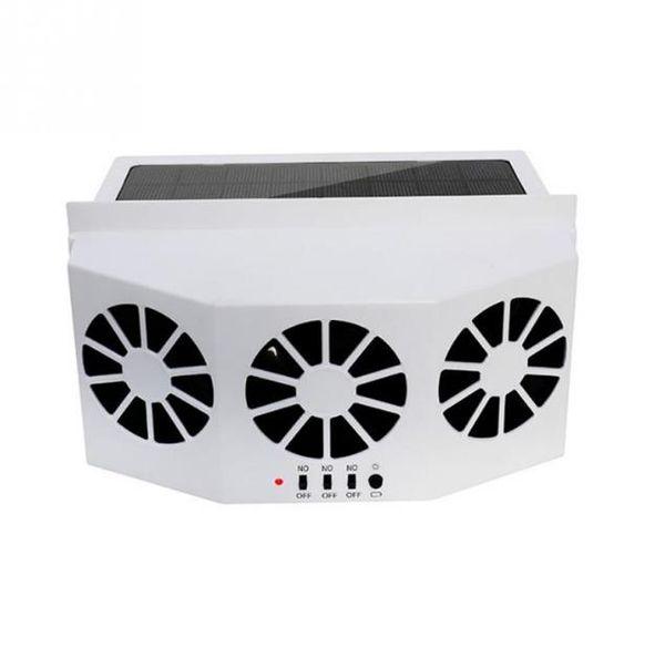 3 Ventola di raffreddamento per auto Ventola di raffreddamento a energia solare Scarico portatile Safe Auto