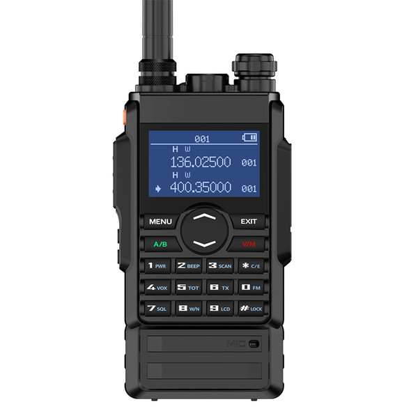 Zastone 8W dual band walkie talkie 136-174 400-480mhz 250 canais hf bateria de 2600mAh transceptor de rádio amador cb